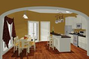 European Style House Plan - 3 Beds 2 Baths 1400 Sq/Ft Plan #430-50