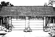 Traditional Style House Plan - 2 Beds 1 Baths 1870 Sq/Ft Plan #303-131 Exterior - Front Elevation