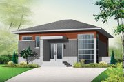 Contemporary Style House Plan - 3 Beds 1.5 Baths 1587 Sq/Ft Plan #23-2537 Exterior - Front Elevation
