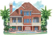 Mediterranean Style House Plan - 3 Beds 2.5 Baths 2349 Sq/Ft Plan #930-127 Exterior - Rear Elevation