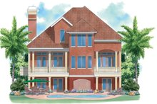 Home Plan - Mediterranean Exterior - Rear Elevation Plan #930-127
