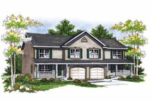 Dream House Plan - Country Exterior - Front Elevation Plan #70-1405