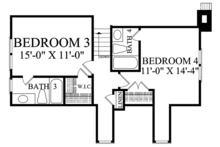 Country Floor Plan - Upper Floor Plan Plan #137-372