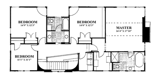 Craftsman Floor Plan - Main Floor Plan Plan #961-2