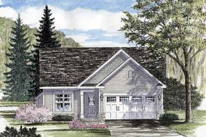 Ranch Exterior - Front Elevation Plan #316-253
