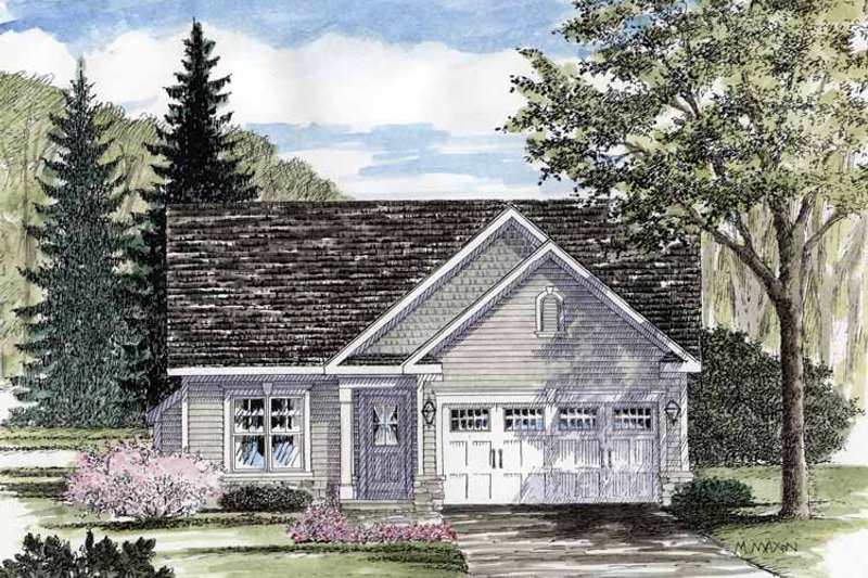 Architectural House Design - Ranch Exterior - Front Elevation Plan #316-253