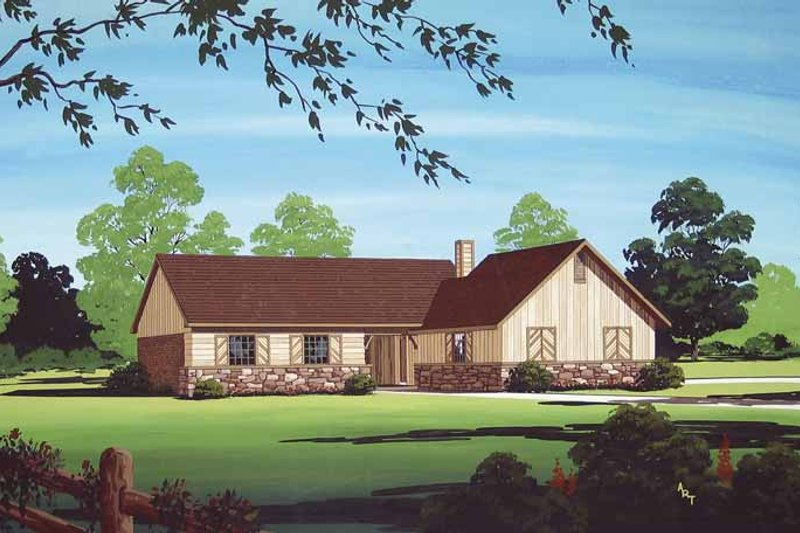 Traditional Exterior - Front Elevation Plan #45-400