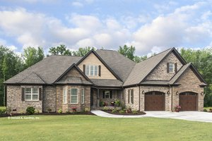 Country Exterior - Front Elevation Plan #929-969