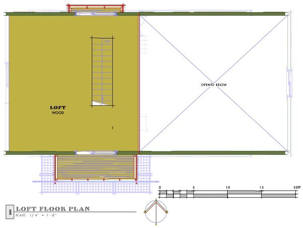 Farmhouse Floor Plan - Upper Floor Plan Plan #450-2