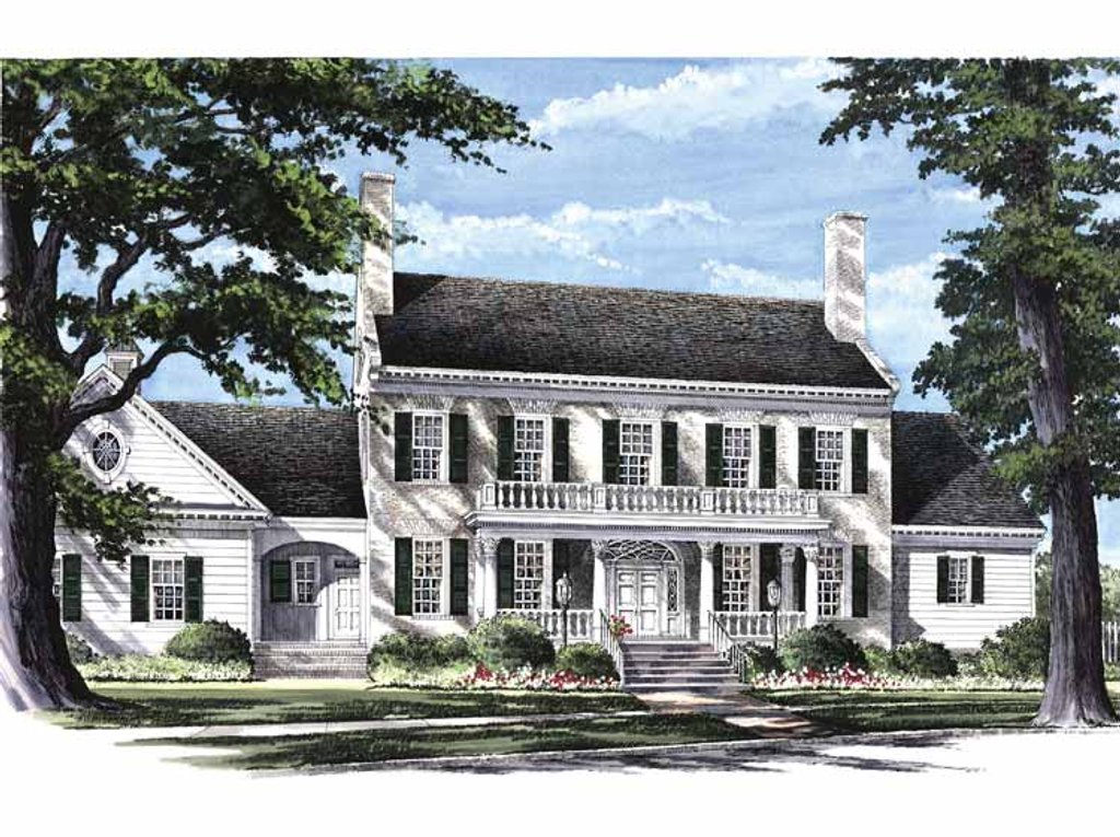 Classical Style House Plan - 4 Beds 4 Baths 4263 Sq/Ft