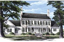 Classical Exterior - Front Elevation Plan #137-312