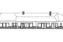 Home Plan - Adobe / Southwestern Exterior - Rear Elevation Plan #117-832