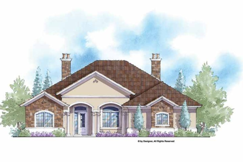 Mediterranean Exterior - Front Elevation Plan #938-63
