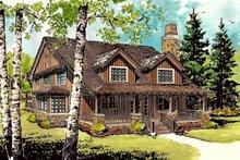 Cabin Exterior - Front Elevation Plan #942-33