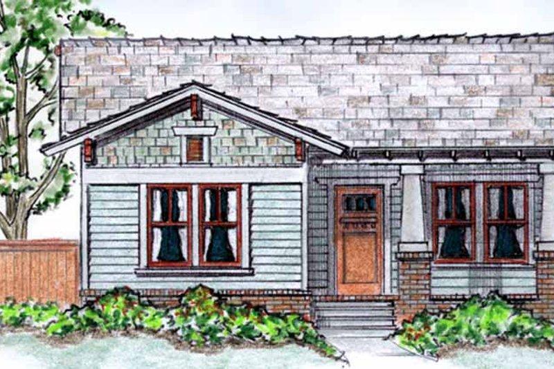 Architectural House Design - Craftsman Exterior - Front Elevation Plan #410-3562