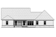 House Plan Design - Craftsman Exterior - Rear Elevation Plan #21-361