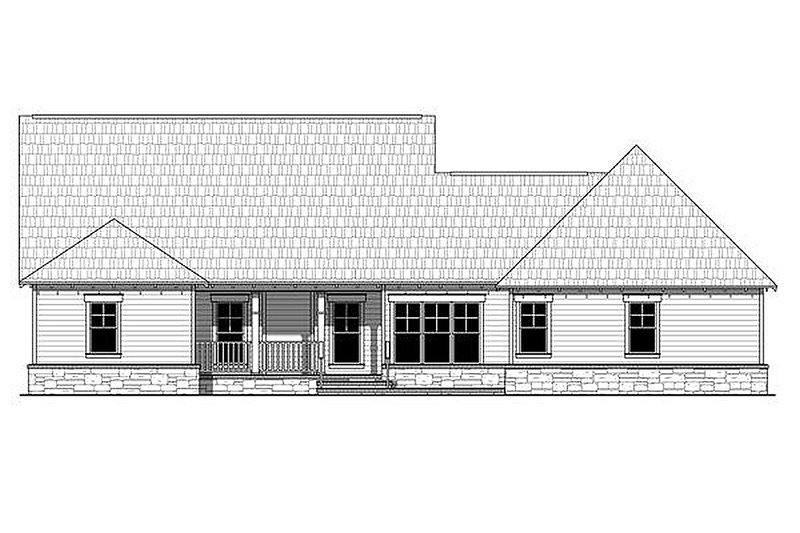 Craftsman Exterior - Rear Elevation Plan #21-361 - Houseplans.com