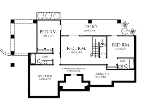 European Floor Plan - Lower Floor Plan Plan #929-891