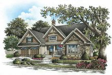European Exterior - Front Elevation Plan #929-859
