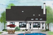 Cottage Style House Plan - 2 Beds 2.5 Baths 1428 Sq/Ft Plan #929-1092 Exterior - Rear Elevation