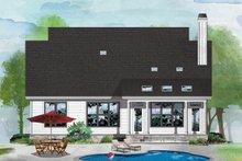 Cottage Exterior - Rear Elevation Plan #929-1092
