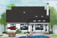 Cottage Exterior - Rear Elevation Plan #929-1092