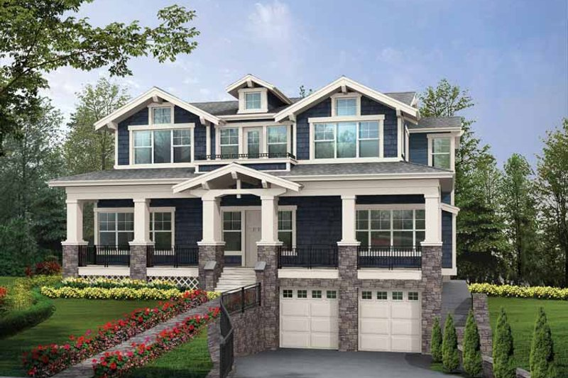 Craftsman Exterior - Front Elevation Plan #132-465