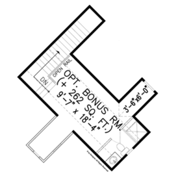 House Plan Design - Craftsman Floor Plan - Other Floor Plan #54-368