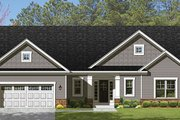 Ranch Style House Plan - 3 Beds 2.5 Baths 1866 Sq/Ft Plan #1010-104 Exterior - Front Elevation