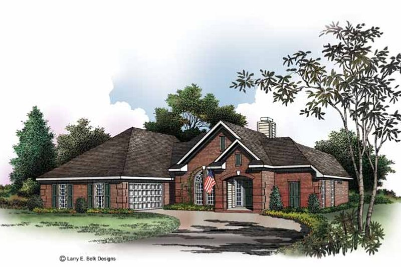 Ranch Exterior - Front Elevation Plan #952-168