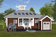Bungalow Style House Plan - 3 Beds 2 Baths 1488 Sq/Ft Plan #56-619 Exterior - Rear Elevation