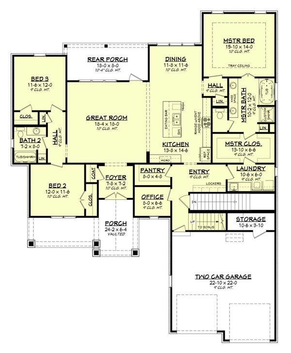 Dream House Plan - Basement stair version