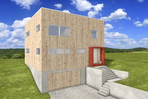 Modern Exterior - Front Elevation Plan #497-26