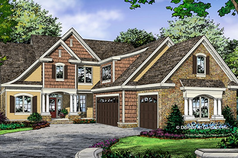 Dream House Plan - Traditional Exterior - Front Elevation Plan #929-1014