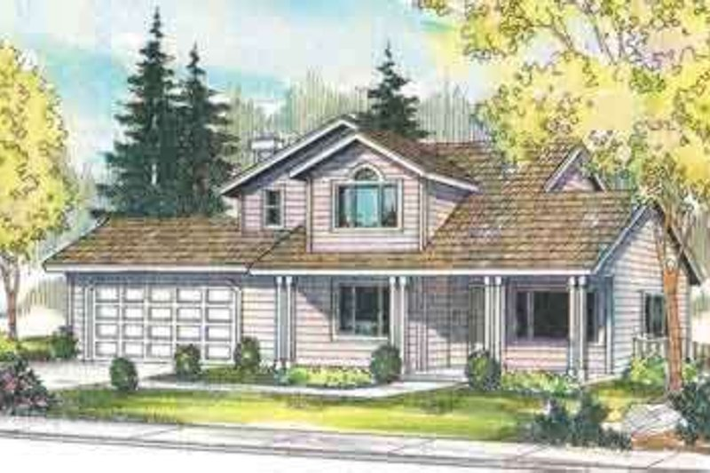 Traditional Exterior - Front Elevation Plan #124-416 - Houseplans.com