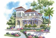 Architectural House Design - Mediterranean Exterior - Front Elevation Plan #930-139