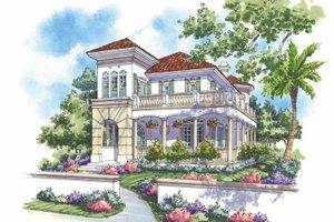 Architectural House Design - Mediterranean Exterior - Front Elevation Plan #930-139