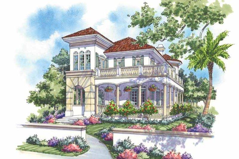 House Plan Design - Mediterranean Exterior - Front Elevation Plan #930-139