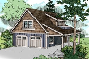 Craftsman Exterior - Front Elevation Plan #124-1142