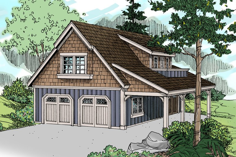 Craftsman Style House Plan - 0 Beds 1 Baths 1947 Sq/Ft Plan #124-1142 Exterior - Front Elevation
