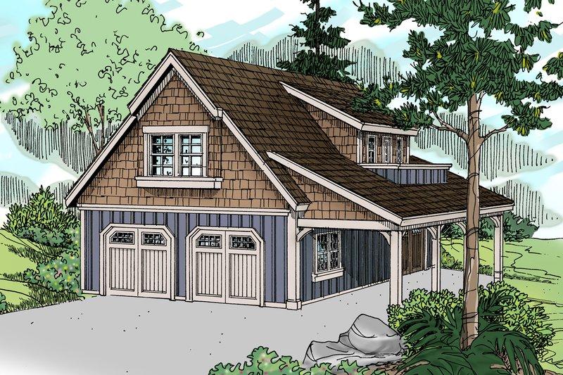 Home Plan - Craftsman Exterior - Front Elevation Plan #124-1142