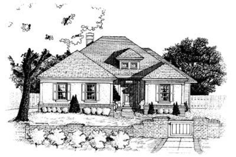 Traditional Exterior - Front Elevation Plan #20-447 - Houseplans.com