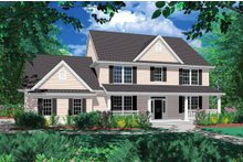 Dream House Plan - Country Exterior - Front Elevation Plan #48-183