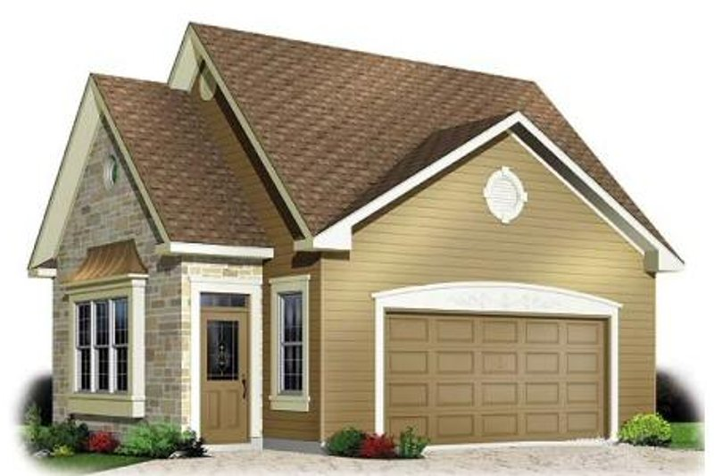 Traditional Exterior - Front Elevation Plan #23-437 - Houseplans.com