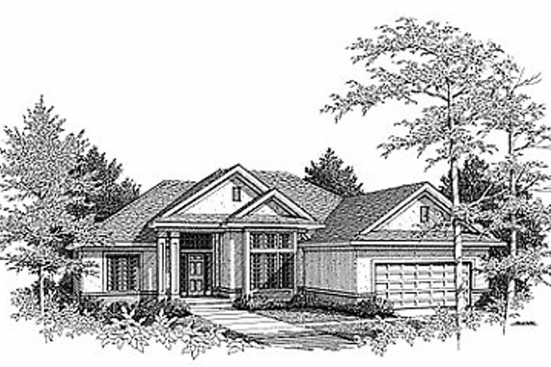Exterior - Front Elevation Plan #70-213