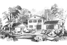 Colonial Exterior - Rear Elevation Plan #72-206