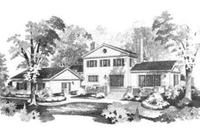 Colonial Exterior - Rear Elevation Plan #72-206 - Houseplans.com