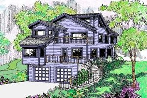 Bungalow Exterior - Front Elevation Plan #60-377