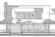 Country Style House Plan - 3 Beds 2 Baths 1715 Sq/Ft Plan #72-111 Exterior - Rear Elevation