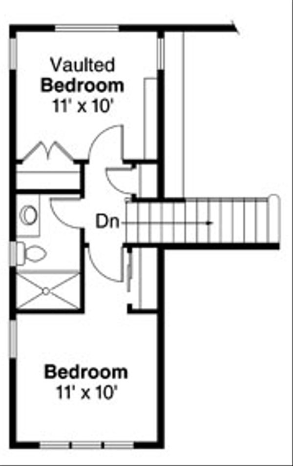 Traditional Floor Plan - Upper Floor Plan Plan #124-860